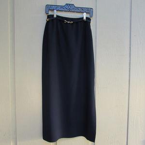 Full Length Navy Skirt W/ Rope Belt! VERY NICE!